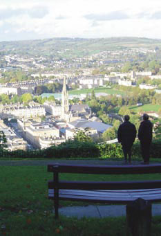 View over Bath City