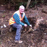 Richard Cox Clearing a Derelict Area Prior to Planting Shrubs